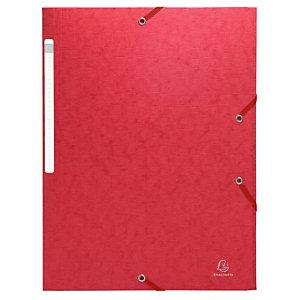 EXACOMPTA Chemise Scotten Nature Future® A4 à 3 rabats et à élastiques, 240 x 320 mm,  carte, rouge (Lot de 2)