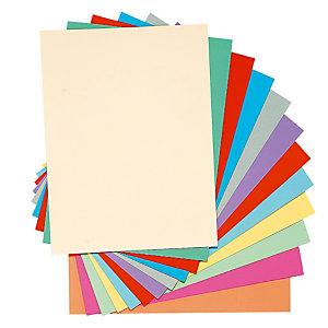 Exacompta Chemises-dossiers toucher Peau d'âne - Carte forte 160g 24 x 32 cm- Coloris assortis (Lot de 100)