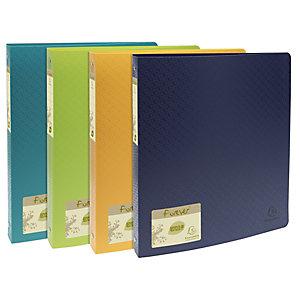 Exacompta Classeur 4 anneaux Forever® A4 maxi en polypropylène recyclé, largeur de dos 40 mm, capacité de 275 feuilles, coloris assortis (Pièce)
