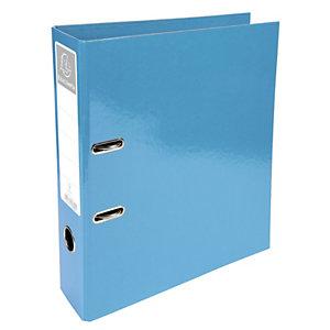 Exacompta Classeur à levier Iderama avec mécanisme Prem'Touch® A4 760 feuilles 320 x 300 x 70 mm Carton comprimé avec polypropylène Bleu clair