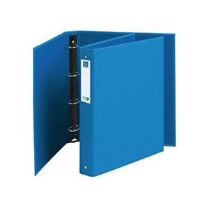 Exacompta Clean Safe Classeur 4 anneaux A4  traité antimicrobien - Dos 4 cm - Couverture en carton bleue