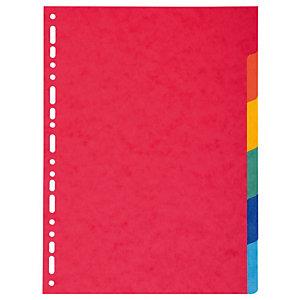 Exacompta Divisorio neutro, A4, 6 tasti, Cartoncino, Colori assortiti