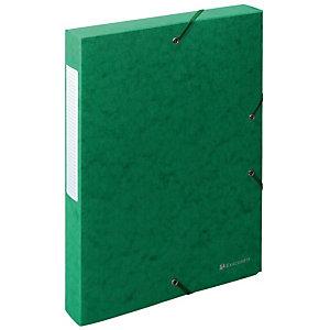 Exacompta Exabox Scotten Nature Future®, Carpeta de proyectos, A4, cartón prensado, 350 hojas, lomo 40 mm, verde