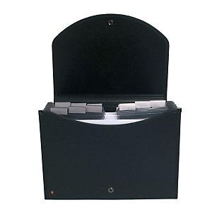 Exacompta Exacase Exactive® Raccoglitore a scomparti espandibile con Maniglia ergonomica Formato A4 400 fogli 13 scomparti 330 x 260 mm Polipropilene Nero