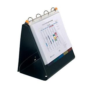 Exacompta Exashow Exactive® Raccoglitore ad anelli, A4, Dorso 40 mm, Capacità 275 fogli, Plastica, Nero