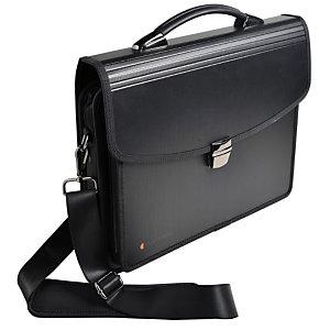 """Exacompta Exatravel Exactive® Valigetta multiuso 200 fogli A4 7 Scomparti Può contenere un laptop da 15"""" Dimensioni 260 x 380 mm Polipropilene Nero"""
