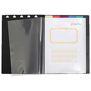 Exacompta Exaview Exactive® Carpeta de fundas A4, 30fundas, cubierta rígida, negro