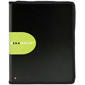 Exacompta Exawallet Exactive® Cartella per conferenze con chiusura a zip e blocco per appunti, 340 x 250 x 30 mm, Polipropilene, Nero