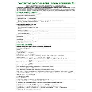 Exacompta Feuilles Contrat de location pour locaux non meublés telles qu'utilisées dans les dossiers réf. 44E