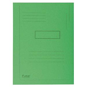 Exacompta Forever® Carpeta de 2 solapas en cartón prensado reciclado con líneas impresas A4 200 hojas de 240 x 320 mm en verde