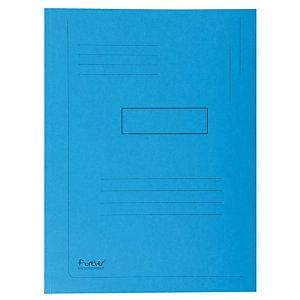 Exacompta Forever® Carpeta de 2 solapas con líneas impresas en cartón prensado reciclado A4 para 200 hojas de 240 x 320 mm en azul