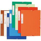 Exacompta Forever® Carpeta de gomas, A4, 3 solapas, lomo 15 mm, 225 hojas, cartón prensado reciclado, colores surtidos