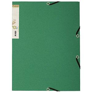 Exacompta Forever® Carpeta de gomas, A4, 3 solapas, lomo 15 mm, cartón prensado reciclado, verde oscuro