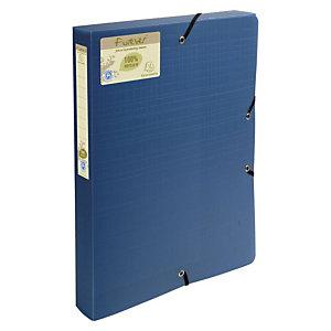 Exacompta Forever®, Carpeta de proyectos, A4, polipropileno reciclado, 290 hojas, lomo 35 mm, azul