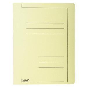 Exacompta Forever® Cartella, Formato A4, Capacità 150 fogli, Cartoncino, Giallo (confezione 10 pezzi)