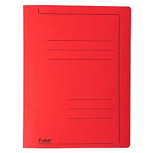 Exacompta Forever® Cartella, Formato A4, Capacità 150 fogli, Cartoncino, Rosso (confezione 10 pezzi)