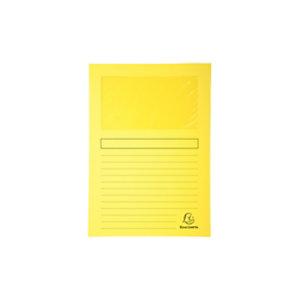 Exacompta Forever® Cartellina con finestra, Cartoncino riciclato, A4, Capacità 80 fogli, Giallo (confezione 25 pezzi)