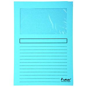 Exacompta Forever® Cartelline Formato A4, Capacità 80 fogli, Cartoncino riciclato 130 g/m², Colore azzurro, Confezione da 100 pezzi (confezione 100 pezzi)