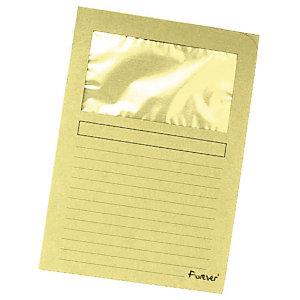 Exacompta Forever® Cartelline Formato A4, Capacità 80 fogli, Cartoncino riciclato 130 g/m², Colore giallo, Confezione da 100 pezzi (confezione 100 pezzi)