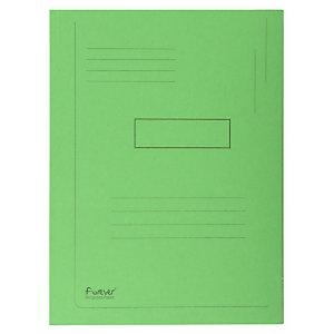 EXACOMPTA Forever® map met 2 kleppen en gedrukte lijnen A4 200 vellen 240 x 320 mm gerecycled karton groen