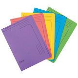 Exacompta Forever® Paquete de 5 subcarpetas de cartón prensado reciclado para 150 hojas tamaño A4 de 220 x 310 mm de colores variados