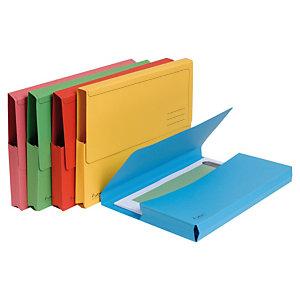 Exacompta Forever® Subcarpeta con bolsillo de cartón prensado reciclado 200 hojas tamaño A4 de 240 x 325 mm colores vivos variados