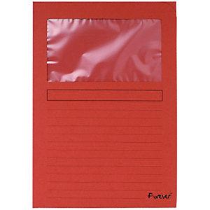 Exacompta Forever® Subcarpeta con ventana de cartón prensado reciclado de 130 g/m² 80 hojas tamaño A4 rojo