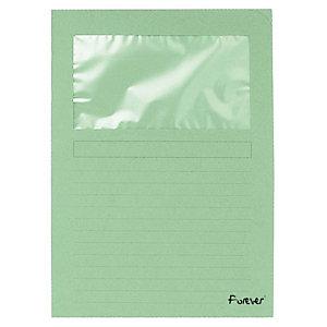 Exacompta Forever® Subcarpeta con ventana de cartón prensado reciclado de 130 g/m² 80 hojas tamaño A4 verde claro