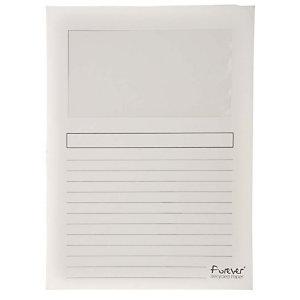 Exacompta Forever® Subcarpeta con ventana de cartón prensado reciclado de 130 g/m² para 80 hojas tamaño A4 blancas