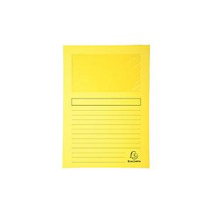 Exacompta Forever® Subcarpeta con ventana en cartón prensado reciclado 80 hojas tamaño A4 de 220 x 310 mm amarillo
