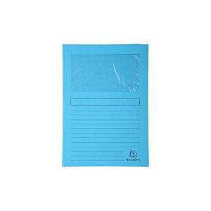 Exacompta Forever® Subcarpeta con ventana en cartón prensado reciclado 80 hojas tamaño A4 de 220 x 310 mm azul claro