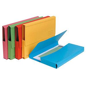 Exacompta Forever® Subcarpetas con bolsillo de cartón prensado de 290 g/m² reciclado para 200 hojas tamaño A4 colores variados