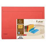 Exacompta Forever® Subcarpetas con bolsillo de cartón prensado reciclado, 200 hojas tamaño A4 de 245 x 325 mm, rojo, paquete de 10