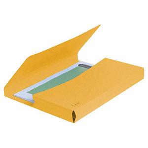 Exacompta Forever® Vip-Pocket Subcarpetas con bolsillo de cartón prensado reciclado 200 hojas tamaño A4 de 240 x 325 mm color amarillo vivo