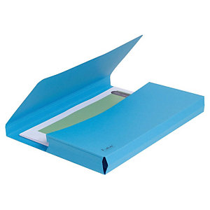 Exacompta Forever® Vip-Pocket Subcarpetas con bolsillo de cartón prensado reciclado 200 hojas tamaño A4 de 240 x 325 mm color azul vivo