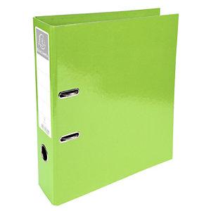 Exacompta Iderama Archivador de palanca con mecanismo Prem'Touch para 760 hojas A4 320 x 300 x 70 mm de cartón con polipropileno amarillo lima
