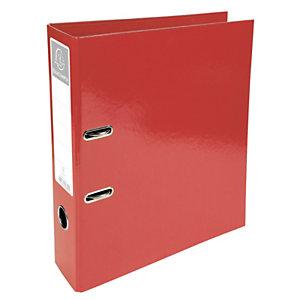 Exacompta Iderama Archivador de palanca con mecanismo Prem'Touch para 760 hojas A4 320 x 300 x 70 mm de cartón con polipropileno rojo