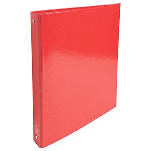 Exacompta Iderama Carpeta de 4 anillas de tipo O de 30 mm, A4, cartón plastificado, 275 hojas, lomo 40 mm, rojo