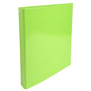 Exacompta Iderama Carpeta de 4 anillas de tipo O de 30 mm, A4, cartón plastificado, 275 hojas, lomo 40 mm, verde lima