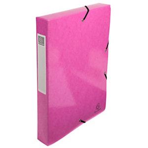 Exacompta Iderama, Carpeta de proyectos, A4, cartón prensado con polipropileno, 350 hojas, lomo de 40 mm, rosa