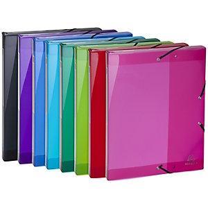 Exacompta IderamaPP, boîte de rangement à 3rabats, A4maximum, polypropylène, tranche de 25mm de large, capacité de 250feuilles, 250x330mm, couleurs assorties