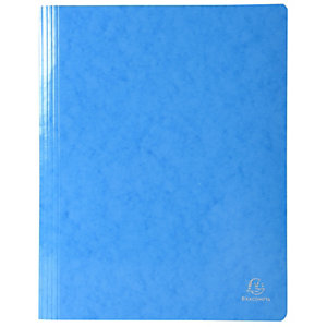 Exacompta Iderama Subcarpeta con mecanismo fástener para 200 hojas A4 240 x 320 mm de cartón prensado con polipropileno azul claro