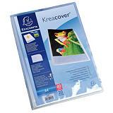 Exacompta Kreacover® Carpeta de fundas A4, 20 fundas, portada personalizable, transparente