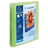 Exacompta Kreacover® Carpeta personalizable canguro de 4 anillas de 30 mm para 275 hojas A4+ lomo 40 mm de PVC colores surtidos