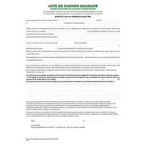 Exacompta Liasses 'Acte de caution' (tous contrats sauf 50E)