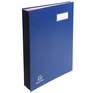 Exacompta Libro firma, 20 scomparti, Blu