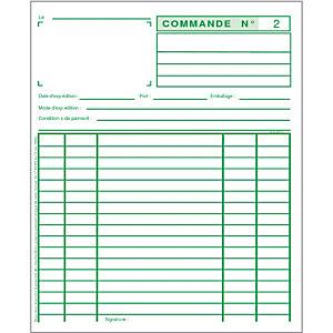 Exacompta Manifold COMMANDES - 21 x 18 cm - 50 feuilles autocopiantes 2 exemplaires