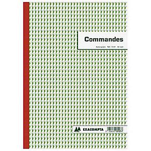 Exacompta Manifold COMMANDES - 29,7 x 21 cm - 50 feuilles autocopiantes 3 exemplaires