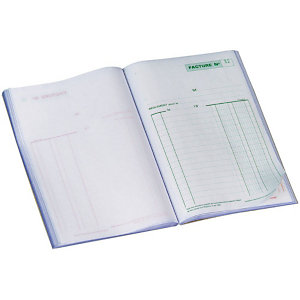 Exacompta Manifold FACTURES - 21 x 14,8 cm - 50 feuilles autocopiantes 2 exemplaires