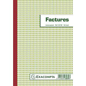 Exacompta Manifold Factures avec mention TVA 21x14,8cm 50 feuillets tripli autocopiants